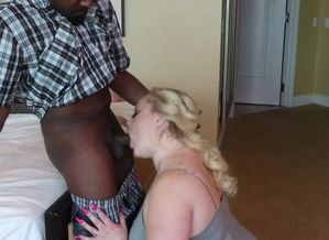 Big black cock Biotch Takes pipe while..
