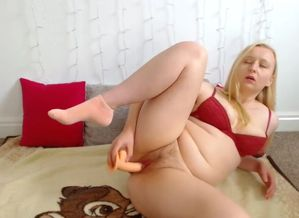 Brit young penetrates herself and..