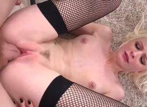 Thin Ash-blonde Stunner 3 way With..
