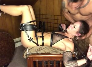 Leather garters pt1: restricted and..