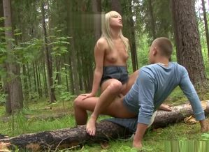 Hitchhiker pounded in the forest -..