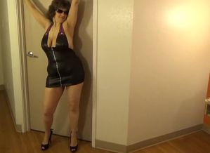 Tinja Rocks A Zip strip Mini Sundress