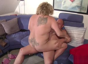 German plus-size ma and father in..