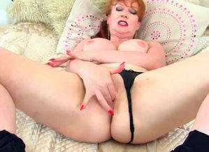 English cougar Crimson put on her taut..