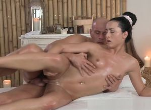 Astounding masseur boinked by her..