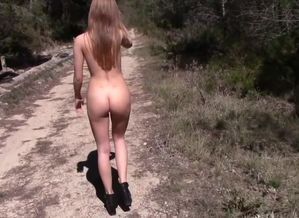 Nubile Blond Nude Outdoor
