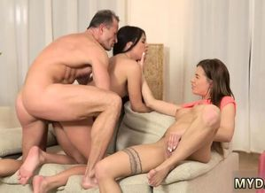 Older guy pummel cherry damsel Mom's 2..