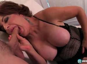 Scorching ginger-haired  drilled by a..
