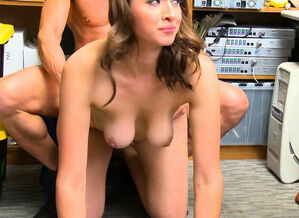 Huge-chested shoplifter pounded by the..