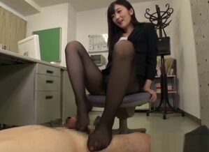 Rina Fukada titillating Asian office..