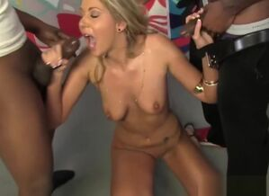 Alysha Rylee Ganbanged By Ten Ebony..