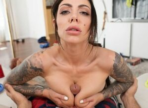 VR 180 - Enormous boobed dark-haired..
